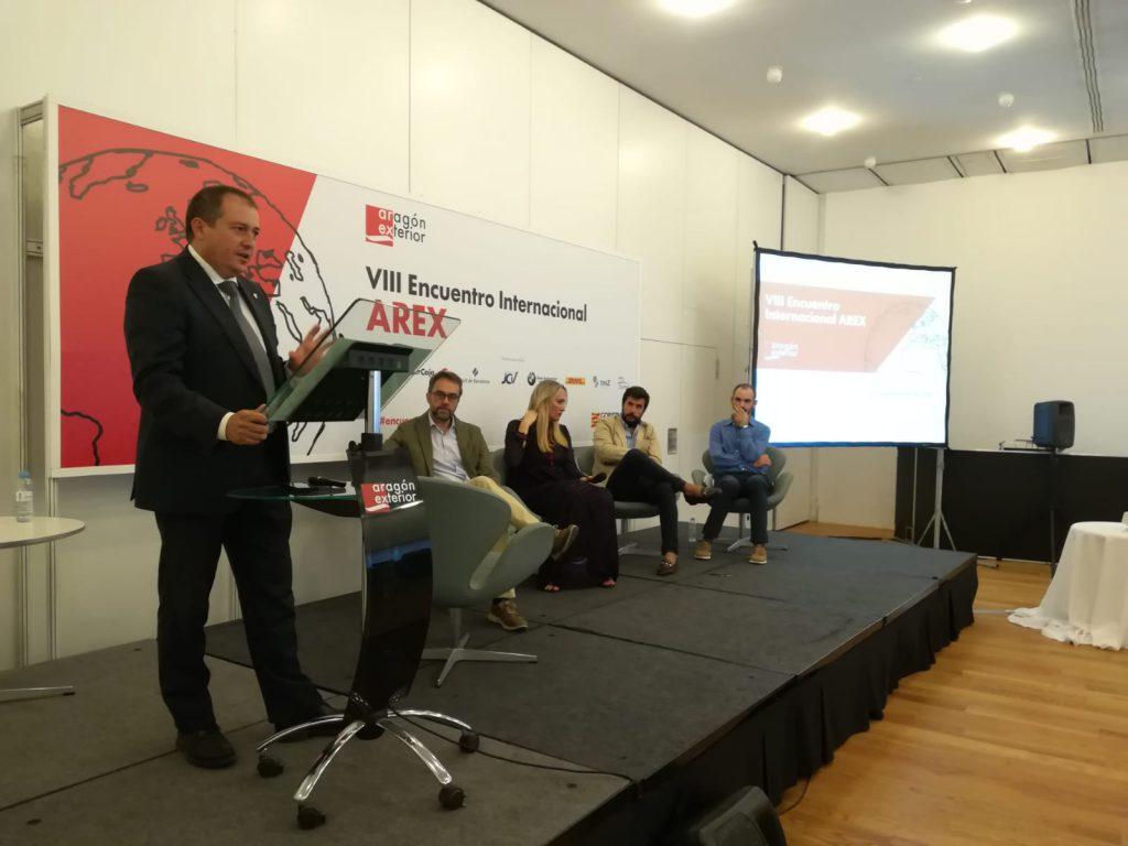 El director general de Economía del Gobierno de Aragón, Luis Lanaspa, en la clausura del VIII Encuentro Arex.