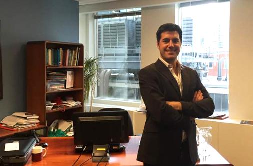 Javier Hidalgo, delegado de Aragón Exterior en Canadá.