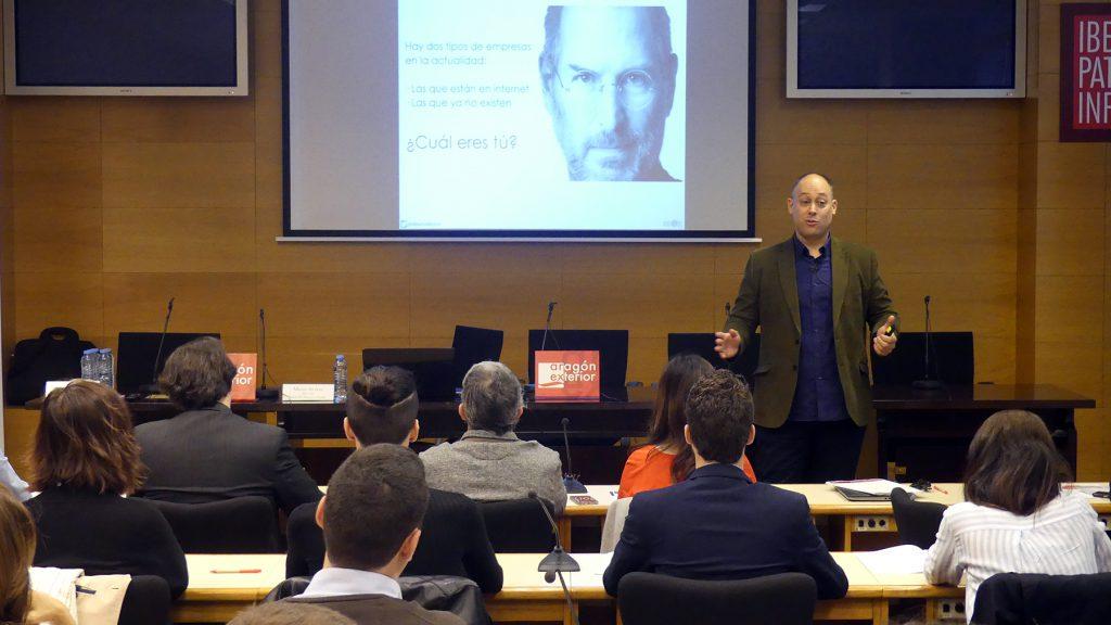 Alberto Alcocer, director de SocieTIC Business Online, durante el Arex Network enmarcado en el programa #ArexDigital.