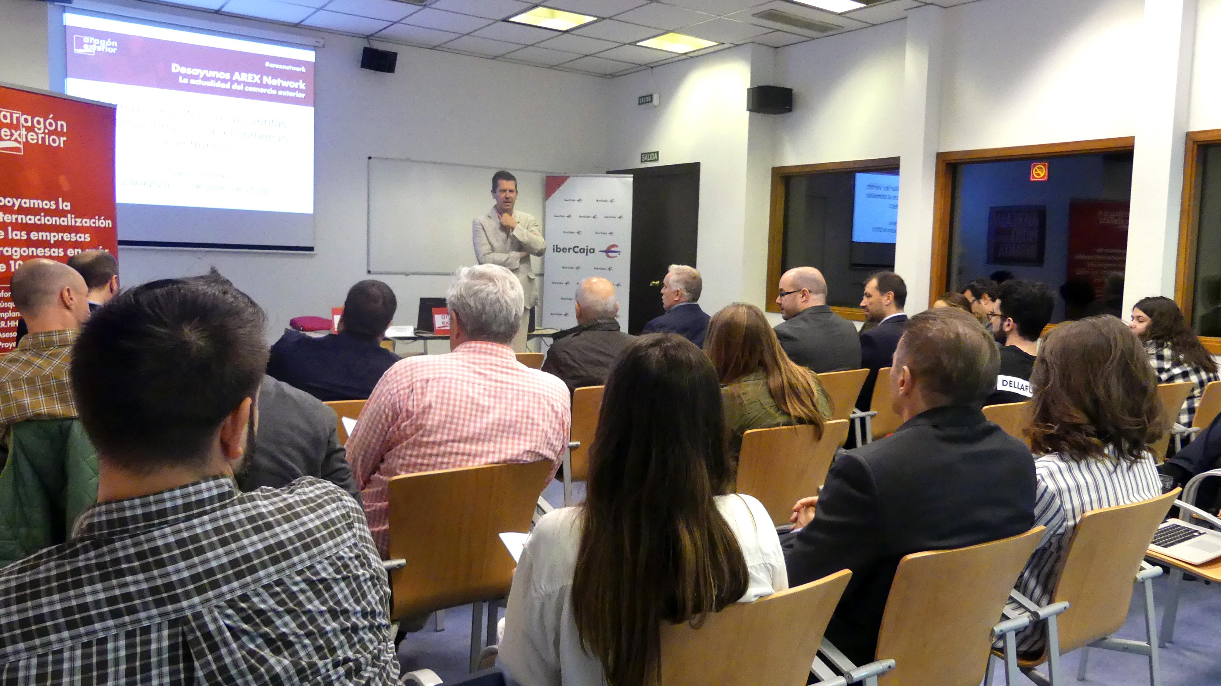 Aragón Exterior e Ibercaja renuevan el convenio para la promoción de los Desayunos Arex Network