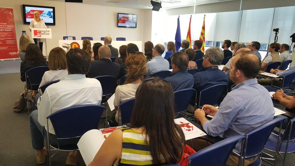 Marta Gastón, consejera de Economía, Industria y Empleo del Gobierno de Aragón, en la apertura de la jornada.