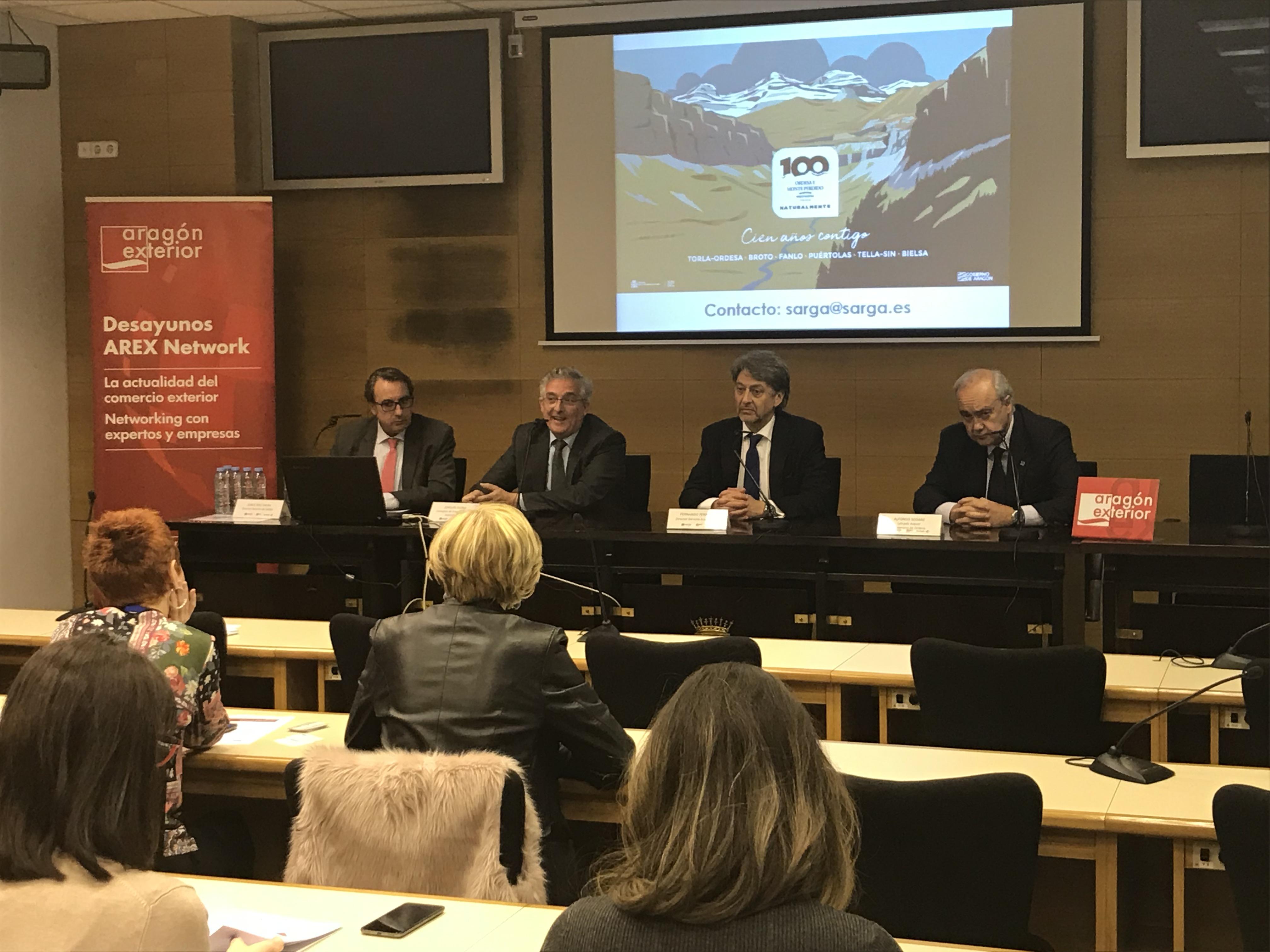 Las empresas aragonesas con proyección internacional se interesan por el Centenario de Ordesa y Monte Perdido