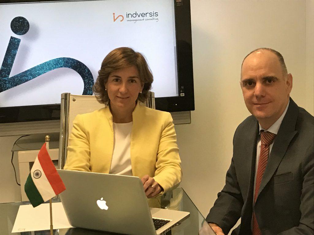 Iñaki Soto y Nuria Machicot Arbizu, director general y directora de desarrollo de negocio de Indversis Management Consulting