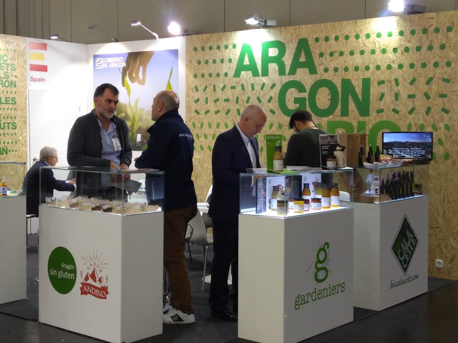 Aragón exhibe el potencial de sus alimentos ecológicos en Biofach, la feria internacional más importante del sector