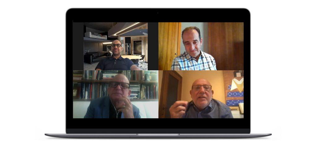 Juan Pablo Serrano (Serrano Monjaraz Arquitectos), David Cámara (UNEX), Rafael Álvarez (Bureau of Rafael Álvarez Inc.) y Miguel Paracuellos (Now Carpets)